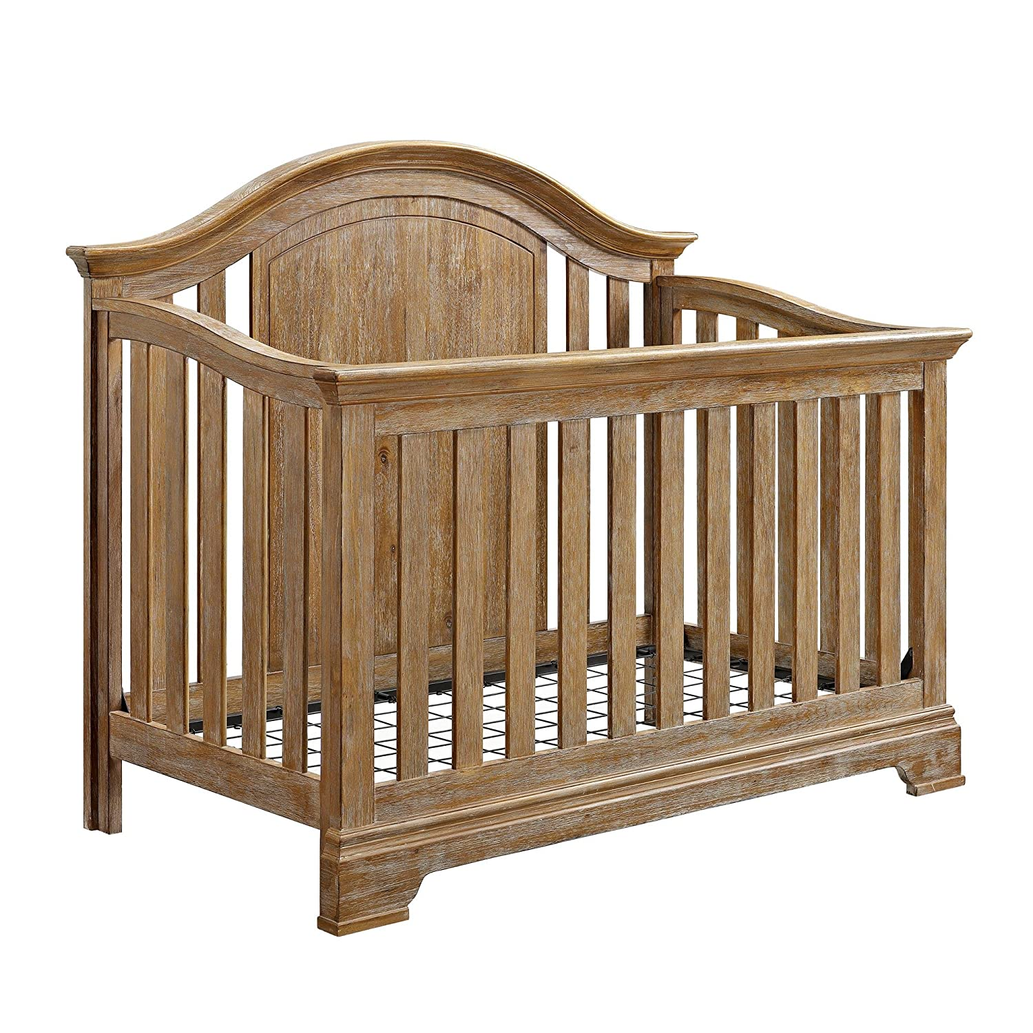 Baby Relax Macy 4-in-1 Convertible Crib, Natural Rustic