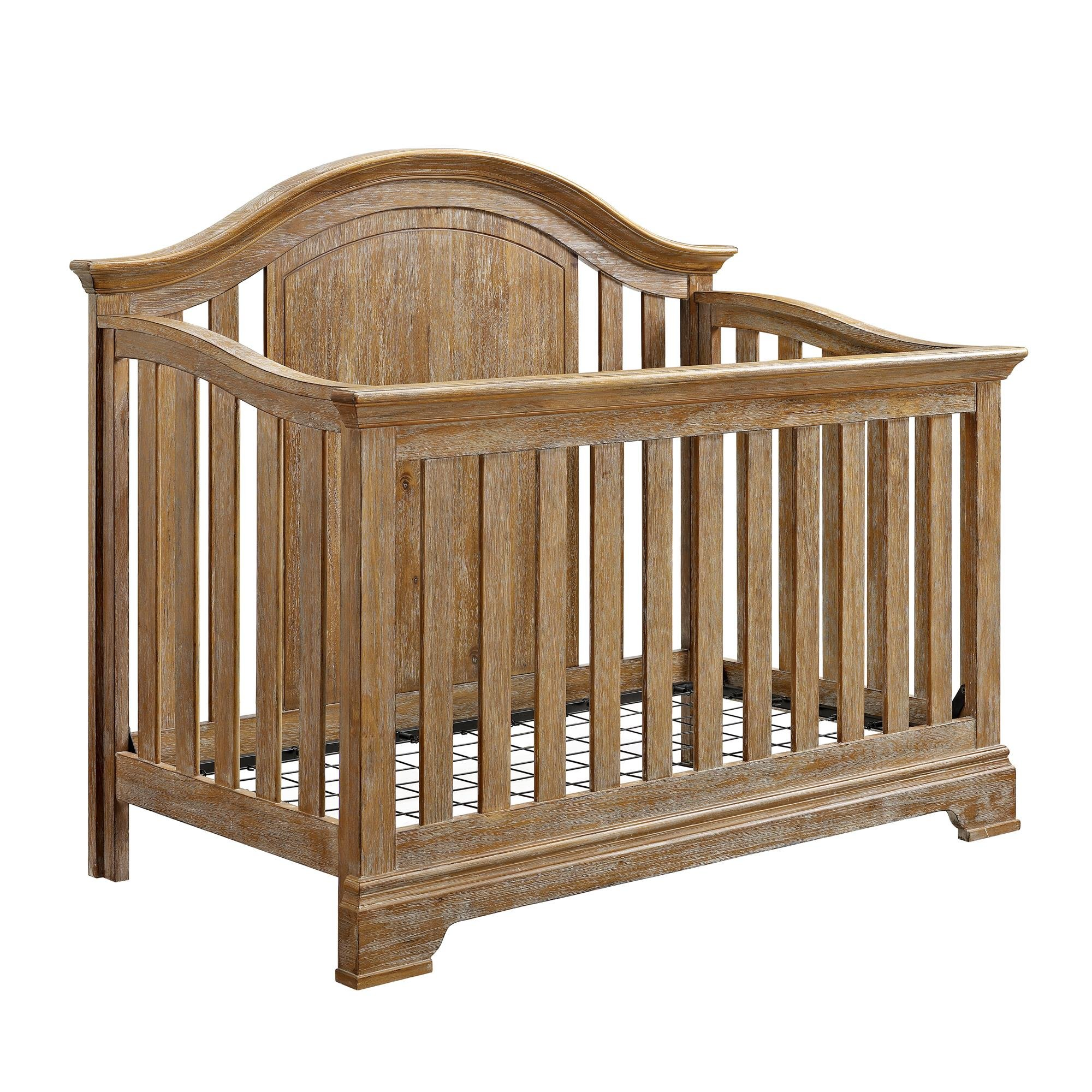 Baby Relax Macy 4-in-1 Convertible Crib, Natural Rustic by Baby Relax