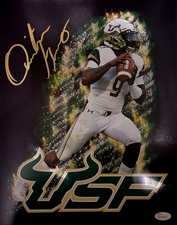 Quinton Flowers Signed Autographed 11x14 USF South Florida Bulls JSA at  Amazon s Sports Collectibles Store 150b95939