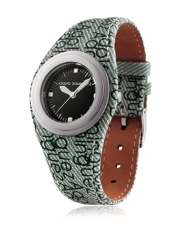 3c3416682085 Adolfo Dominguez Watches 69187 - Reloj de Señora cuarzo correa piel Verde   Amazon.es  Relojes