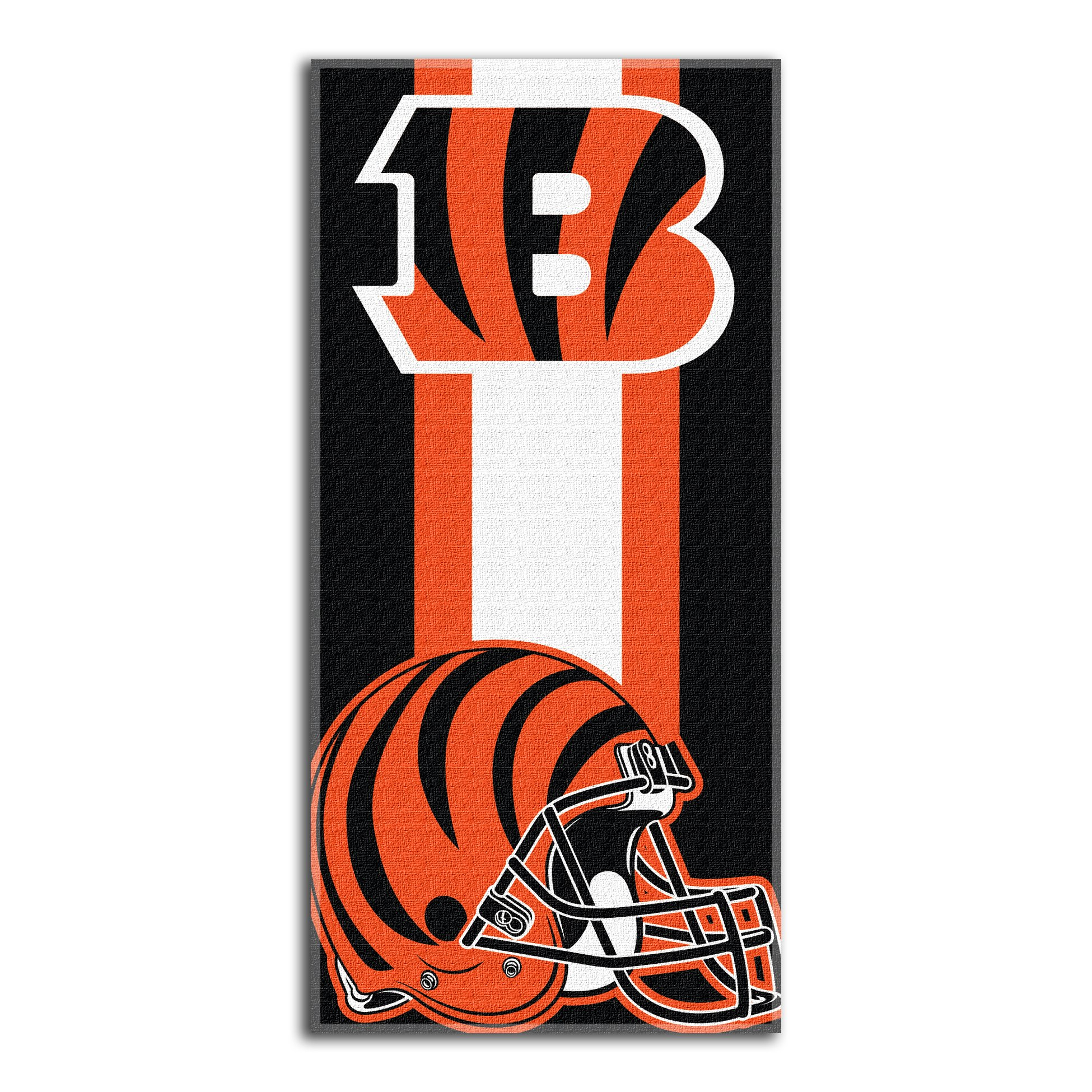 The Northwest Company Officially Licensed NFL Cincinnati Bengals Zone Read Beach Towel, 30'' x 60''