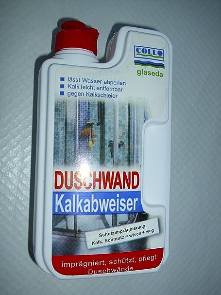 Collo Glaseda ducha Kalkabweiser contenido: 250 ml protección impermeabilizante para proteger la: cal, la suciedad=mancha + manera impregnado, protege, cuida puertas de ducha. Collo Glaseda ducha Kalkabweiser impregnado, protege, cuida puertas de