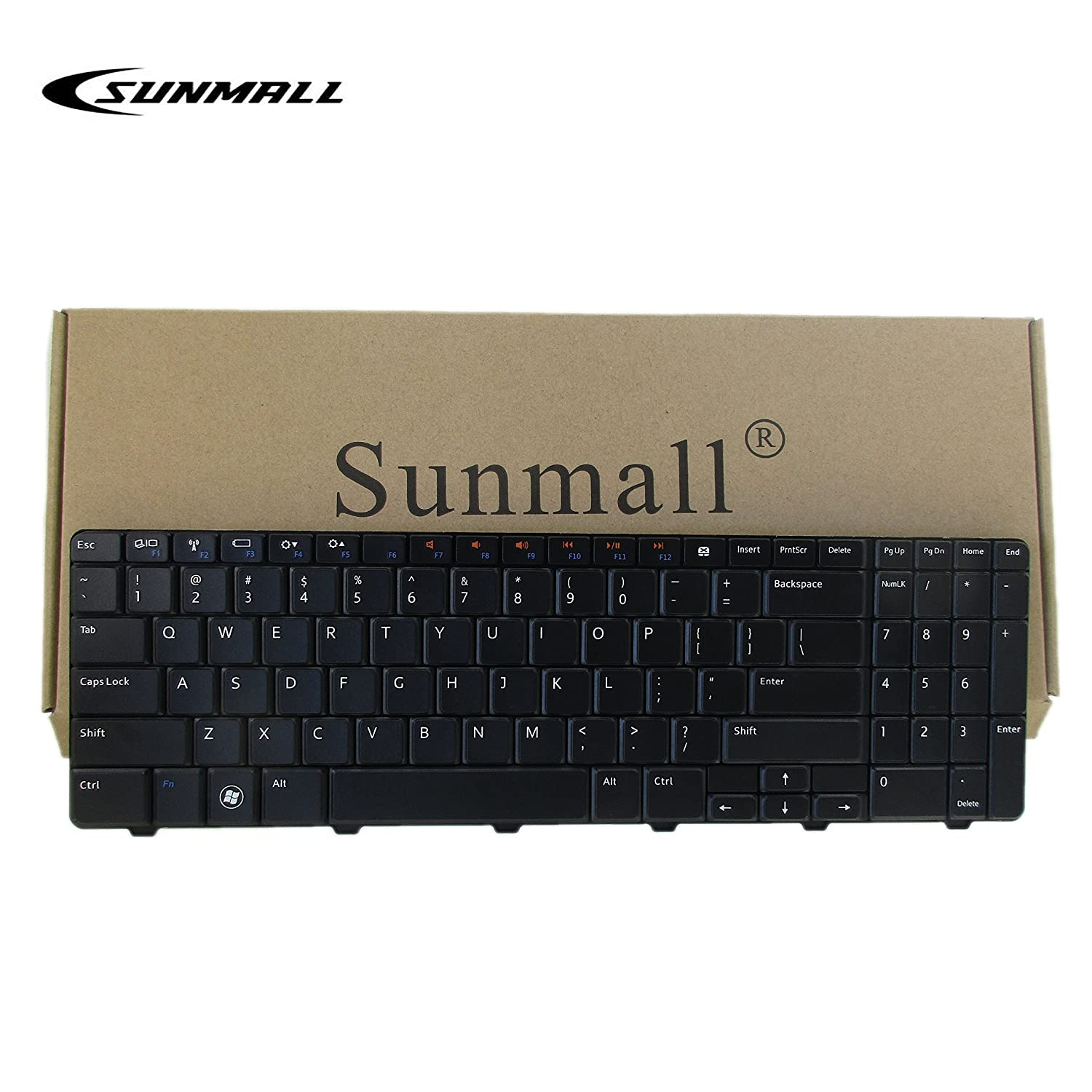 SUNMALL New Laptop Keyboard for Dell Inspiron 15R 5010 M5010 M501R N5010 09GT99 NSK-DRASW 96DJT 096DJT NSK-DRASW series Black US Layout Keyboardseller
