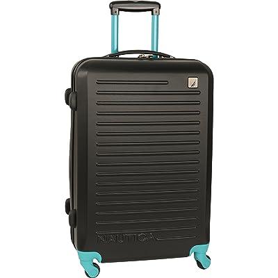 Nautica Hardside Spinner Wheels Luggage-24 Inch Expandable Travel Suitcase