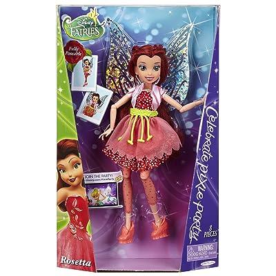 """Disney Fairies Pixie Party Rosetta 9"""" Fashion Doll: Toys & Games"""