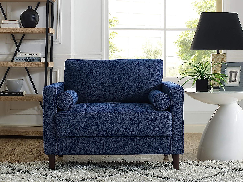 LifeStyle Solutions LK-LGFSP1GU3051 Lexington Chair in Navy Blue,