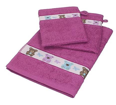 Betz Juego de 3 piezas de toallas para bebés 1 toalla y 2 manoplas de baño