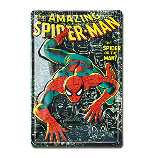 Marvel Señal metálica, Metal, Negro, 30 x 20 x 1 cm: Amazon ...