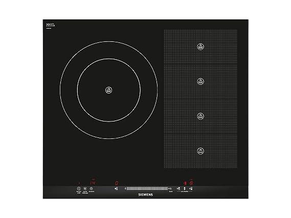 Siemens EH675MR17E VITROCERAMICA INDUCCION 2 ZONAS, 2800 W, Vidrio y cerámica, Negro
