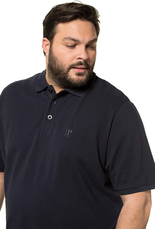 JP 1880 Herren gro/ße Gr/ö/ßen bis 8XL Poloshir 712617 T-Shirt Piqu/é Bauchshirt JP1880-Brustdruck