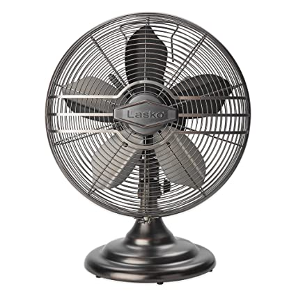 Lasko 12-Inch Classic Table Fan, features 3 quiet speed settings, widespread coverage