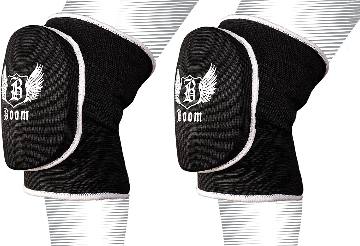 BOOM Elbow Pads Protector MMA Padded Arm Guard Support Martial Arts Boxing Brace