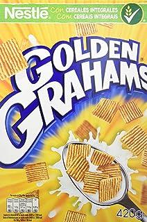 Cereales Nestlé Golden Grahams Cereales de maíz y trigo tostados - Paquete de cereales de 420