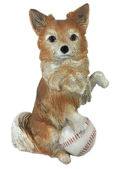 Universal Sculptural Playful Chihuahua With Baseball Home And Garden Statue,  8.8 Inch