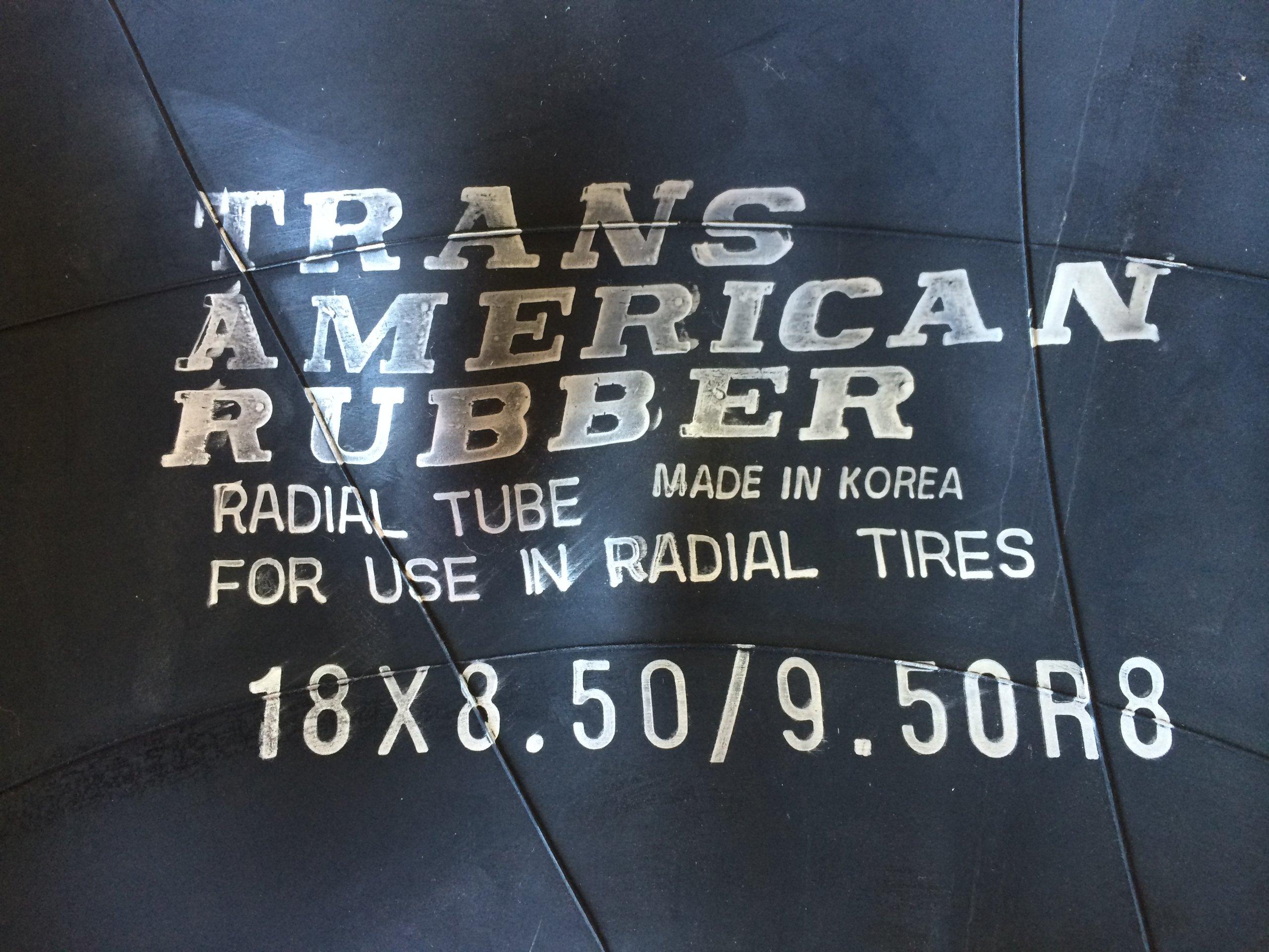 Trans American 18x8.50-8 18x9.50-8 Inner Tube with TR-13 Valve Stem
