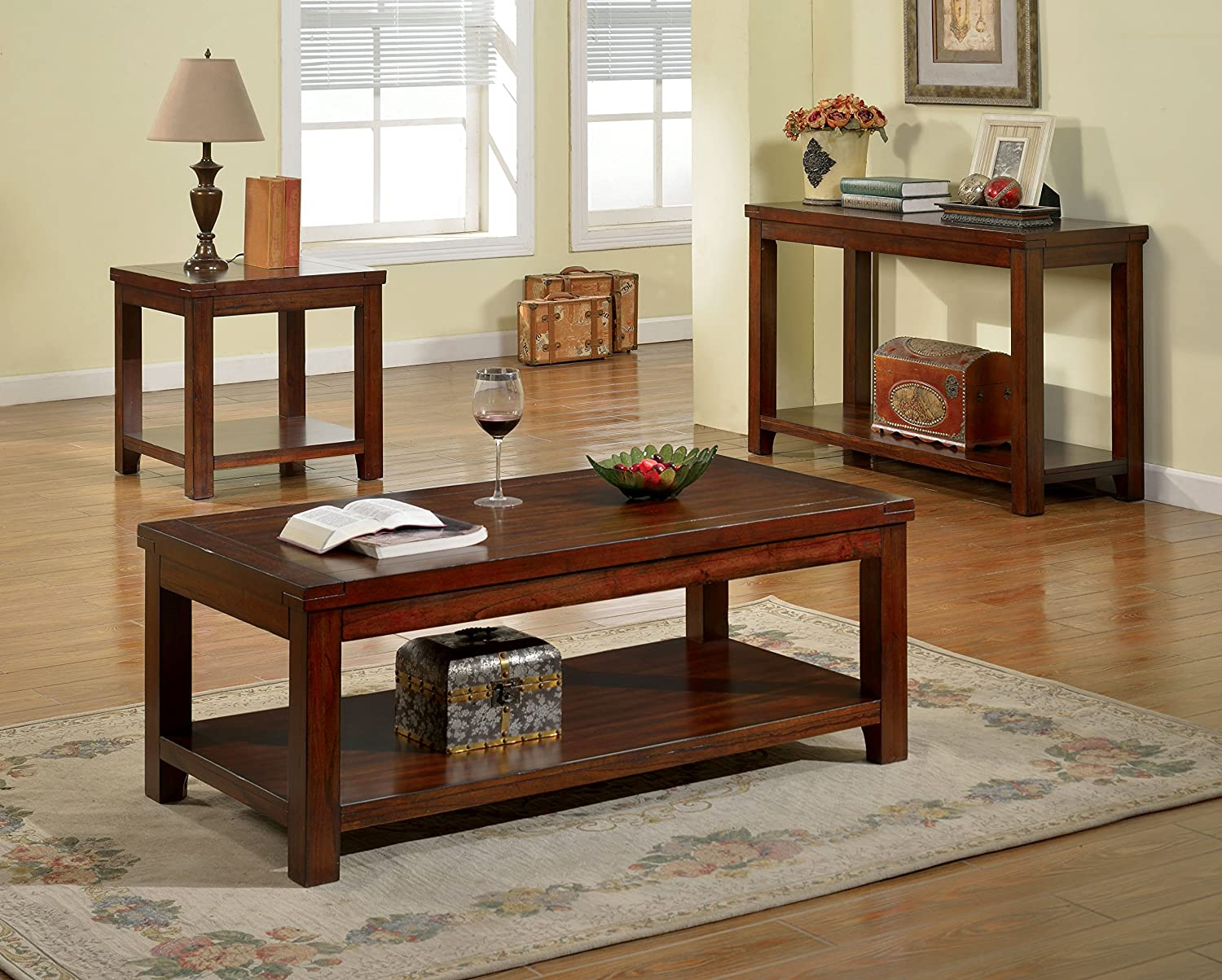 Furniture Of America Torrence Transitional Coffee Table Dark Cherry Amazon Ca Home Kitchen [ 1204 x 1500 Pixel ]