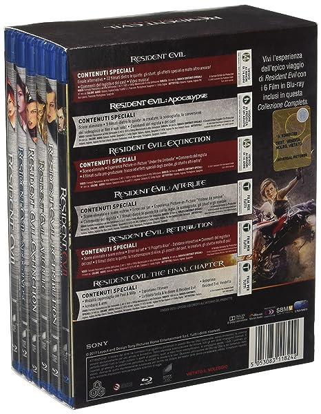 Resident Evil Collection 6 Blu-Ray Italia Blu-ray: Amazon.es: Ashanti, Tomandandy, Marco Beltrami, Charlie Clouser, Kim Coates, Martin Crewes, Jeff Danna, Kevin Durand, Christopher Egan, Mike Epps, Iain Glen, Sienna Guillory, Jared Harris,