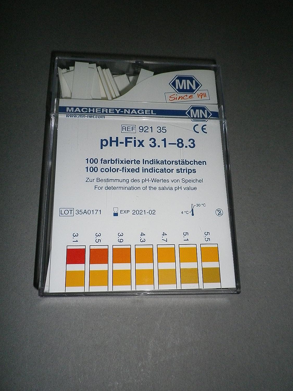 Indicateur de pH Fix 3, 1– 8, 3 Bâ tonnets d'encens 100 Bâ tonnets d'encens 6 x 85 mm Ma 92135 1-8 3Bâtonnets d' encens 100Bâtonnets d' encens 6x 85mm Ma 92135 SIM Products