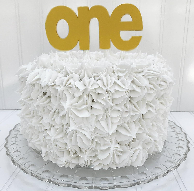 Fabulous Amazon Com One Birthday Cake Topper 1St Birthday Yellow Fellow Personalised Birthday Cards Petedlily Jamesorg