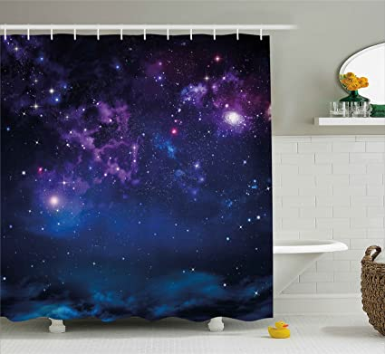 Amazon Ambesonne Space Shower Curtain Milky Way Themed Dark