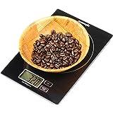 EPAuto Digital Multifunction Kitchen Food Scale, 11lb Capacity by 0.05oz High Precision, Black