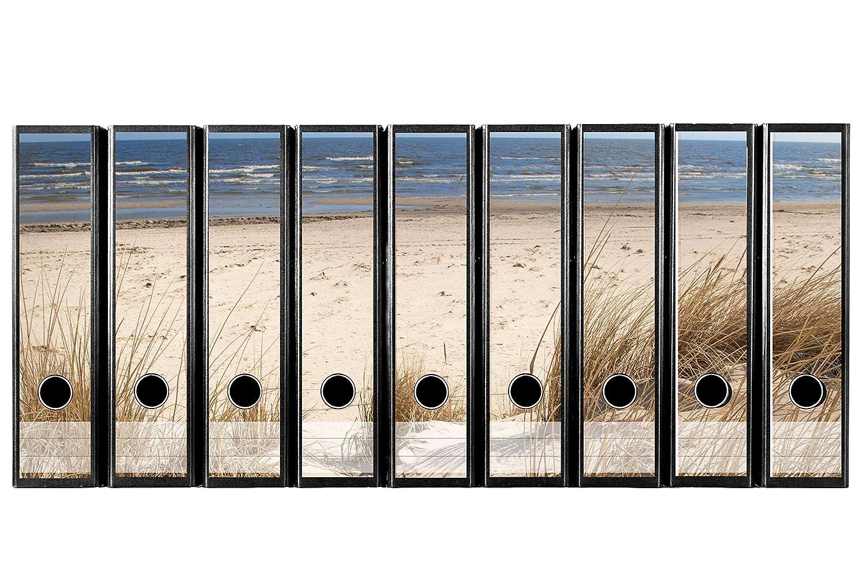 codiarts Juego con 9 Pieza Amplia Carpeta de Etiquetas Autoadhesivas (Lomo de archivadores Adhesivos) traumhafter Playa Visión para su 540130, ...