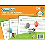 Channie's EASY PEASY ALPHABET HANDWRITING WORKBOOK COMBINE BOTH TRACING & WRITING. LOTS PRACTICES! MOST VISUAL & SIMPLE WORKBOOK ON THE MARKET