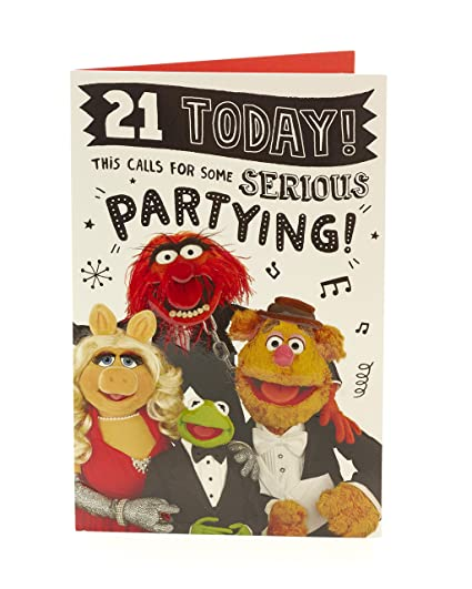 Amazon Muppets 21 Today 21st Birthday Card Office Products