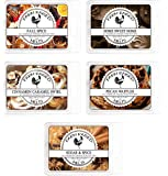 Fall Spice Variety Assorted Mix 5 Pack.100% All Natural American Farm Raised Made Paraffin-Free Pure Soy Scented Wax…