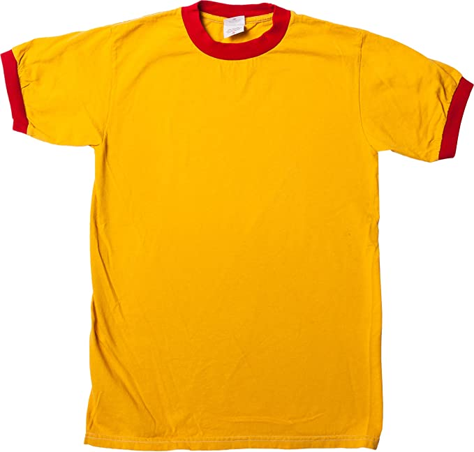 9338cfd7dff Amazon.com  Mens Gold and Red Ringer T-Shirt  Clothing