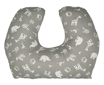 Jolly Jumper Babysitter Cushion GreyWhite Amazonca Baby New Jolly Jumper Boomerang Nursing Pillow Cover