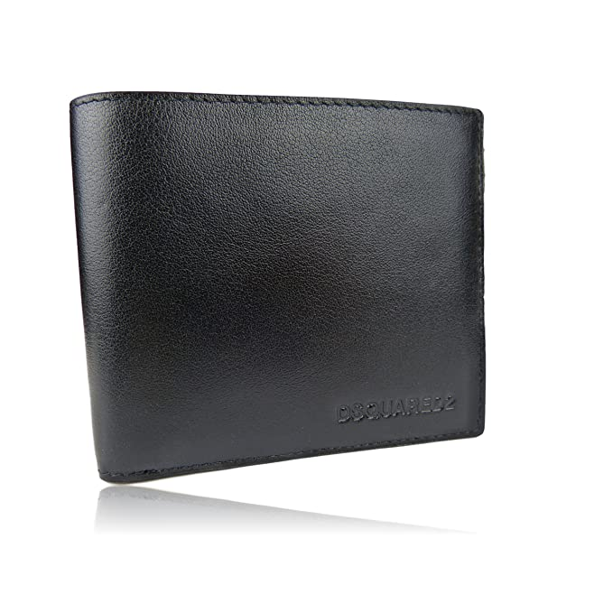Amazon.com: DSQUARED2 Men Dante Billfold Designer Leather Wallet - W16WA40080152124 - Dsquared Bifold Wallets For Men Made In Italy: Clothing