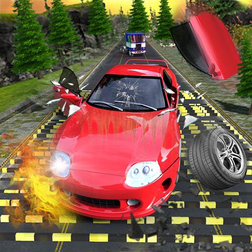 Crazy Speed Bumps Car Crashing Simulator   Beam Ng