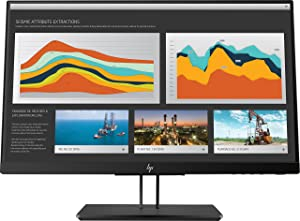 HP 21.5-Inch Screen LED-lit Monitor Space Silver/Black Pearl Chin/Die-Cast Aluminum Base with Black Pearl Paint (1JS05A4#ABA)