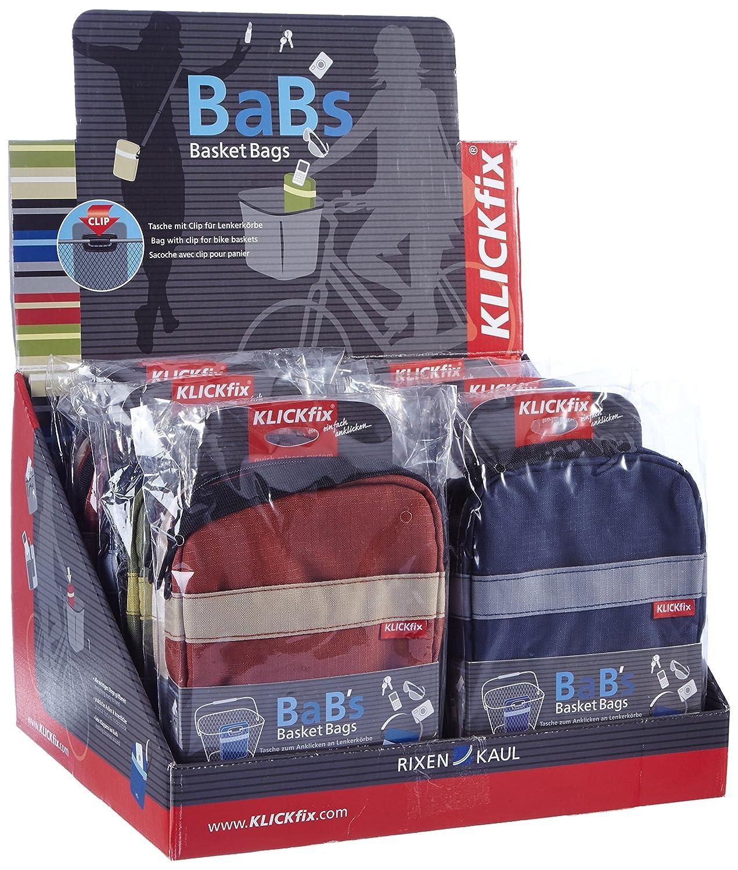 KLICKfix Farradtasche Babs Theken-Display 12 St/ück Lenkertasche Multicolor 30 x 30 x 25 cm
