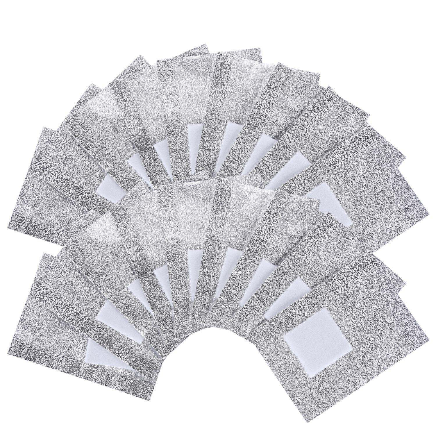 BTYMS 400 Pcs Nail Polish Remover Nail Foil Wraps Nail Gel Remover Soak Off Foils Cotton Pads Acrylic Removal Wraps by BTYMS