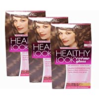 Loreal Healthy Look Hair Dye, Creme Gloss Color, Medium Brown 5, 1 ct (Pack of 3)