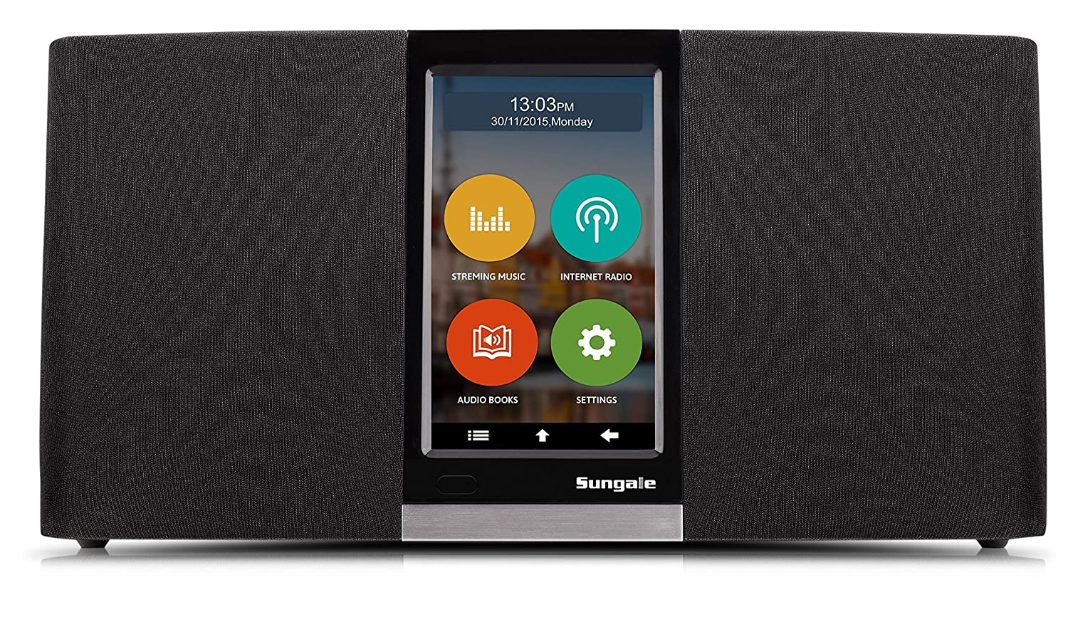 Sungale Wi-Fi Internet Radio with User Friendly Touchscreen Navigation, listen to thousands of radio stations & streaming music through an assortment of popular apps KWS433