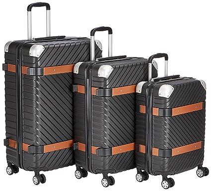 Trolley-Set, ABS, Milano, Schwarz