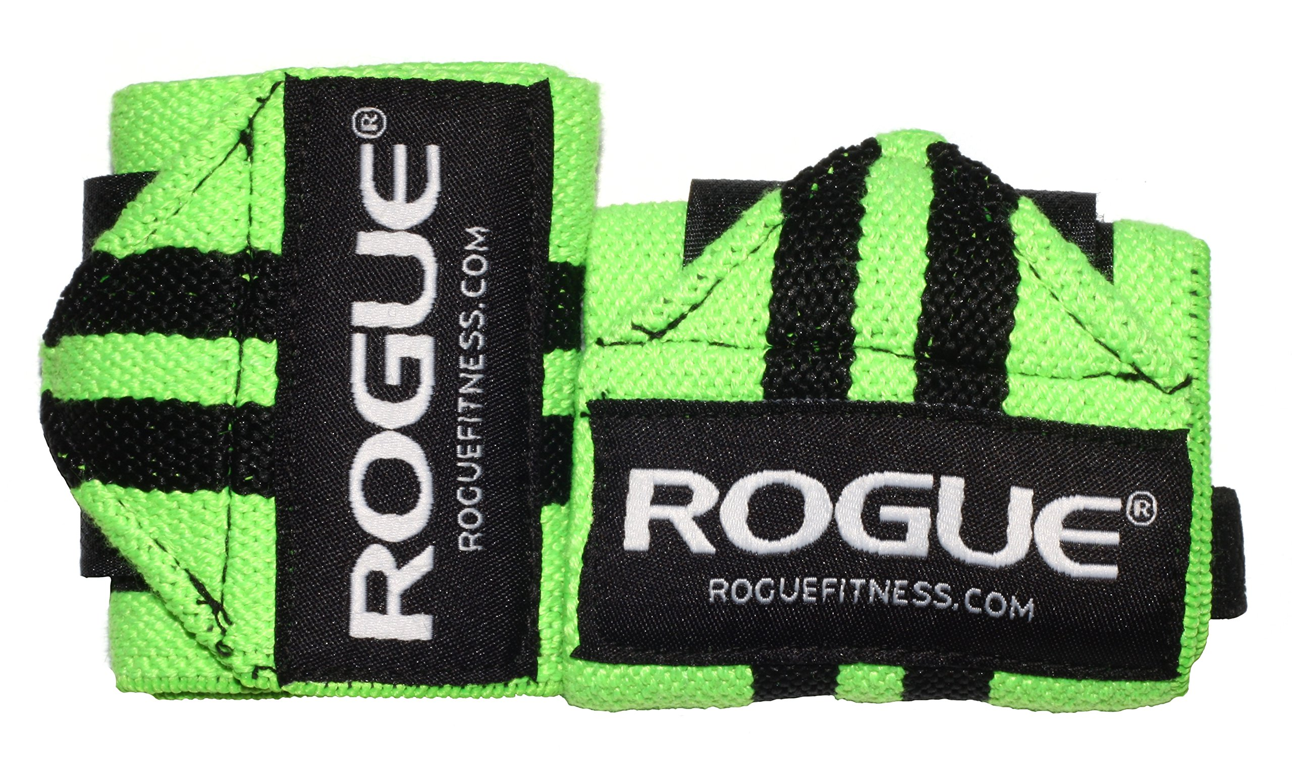Rogue Fitness Wrist Wraps   Available in Multiple Colors (Green, 24'')