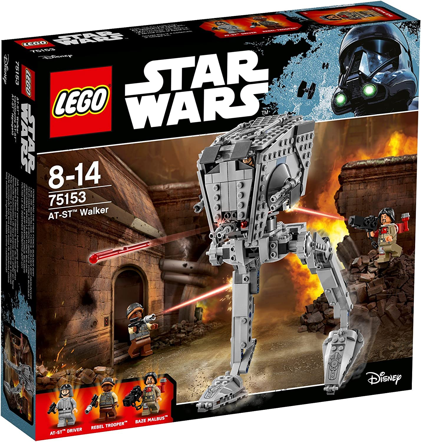 NEW FAST 75153-2016 AT-ST BAZE MALBUS FIGURE LEGO STAR WARS GIFT