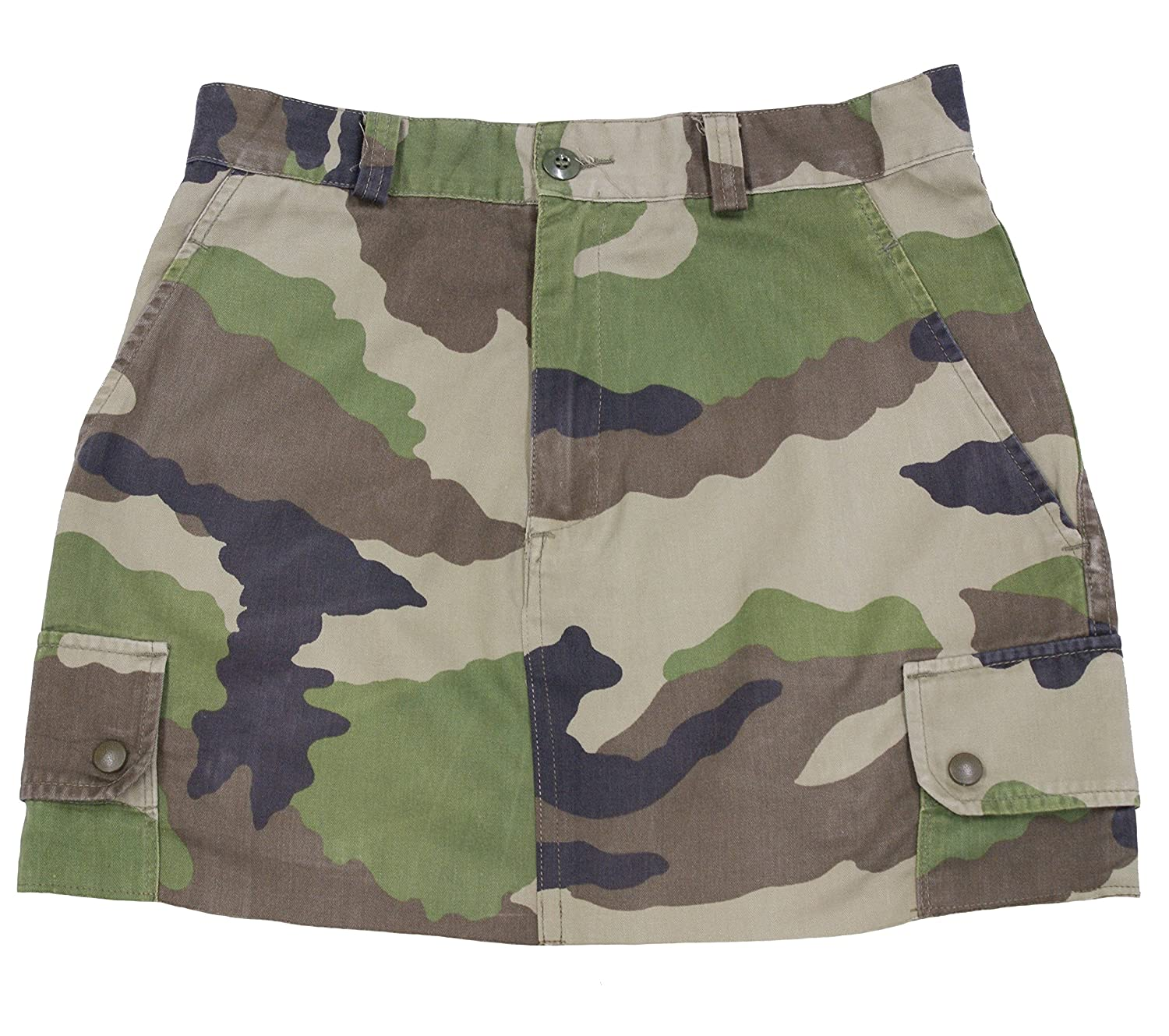 Army Used F2 French Camouflage Pure Cotton Ladies Trendy and Stylish High-waist  Skirt: Amazon.co.uk: Clothing