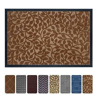 Mibao Durable Rubber Doormat, 24 x 36  Low-Profile Waterproof, Non Slip, Easy Clean, Washable Indoor/Outdoor Mats for Entry, Patio, Bathroom