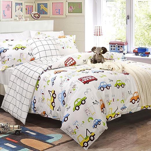 Amazon.com: Brandream Kids Construction Bedding Set Queen Size Boy