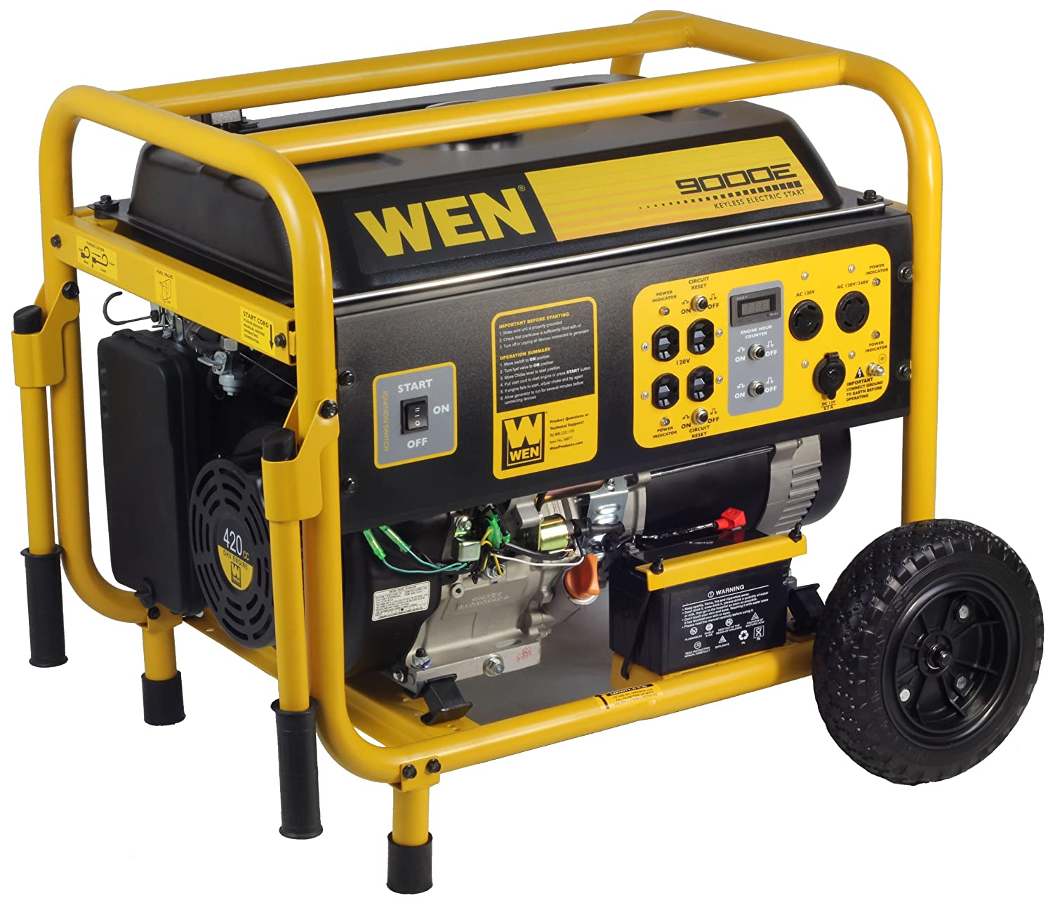 Amazon WEN 7000 Running Watts 9000 Starting Watts Gas