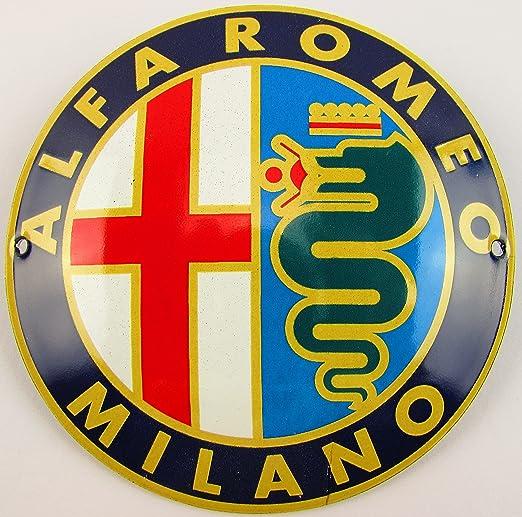 NUEVO BBV Emaille - Cartel (Alfa Romeo 12 cm redondo ...