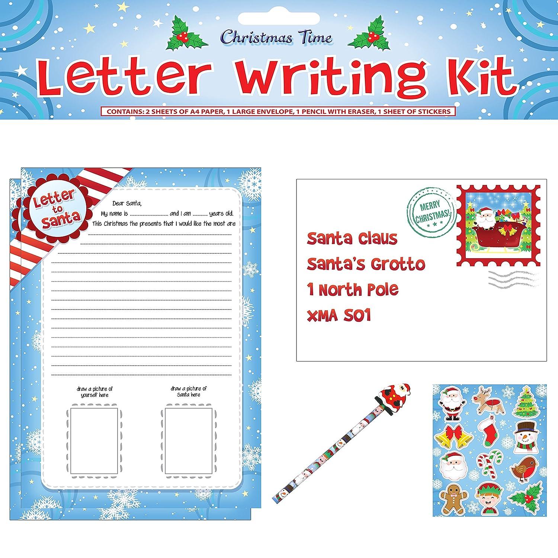 1 niños de Navidad de Papá Noel carta juego de escritura y ...