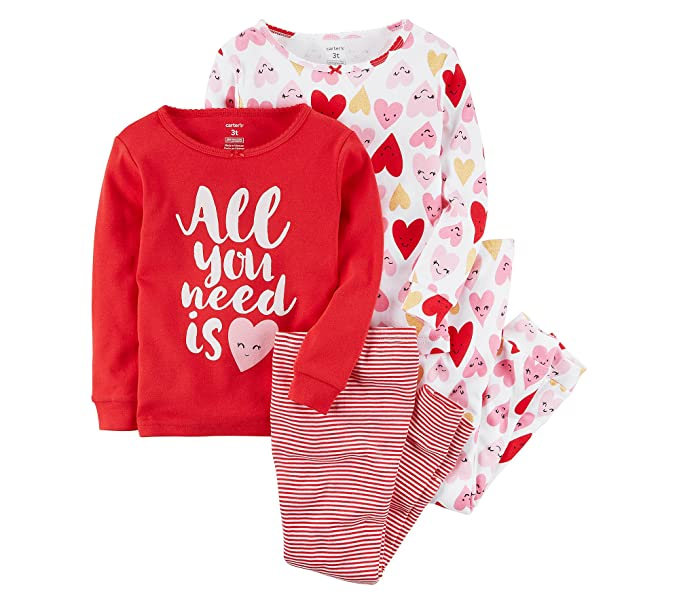 e332ae04a Amazon.com  Carter s Girls  2T-16 4-Pc. All You Need is Love Snug ...