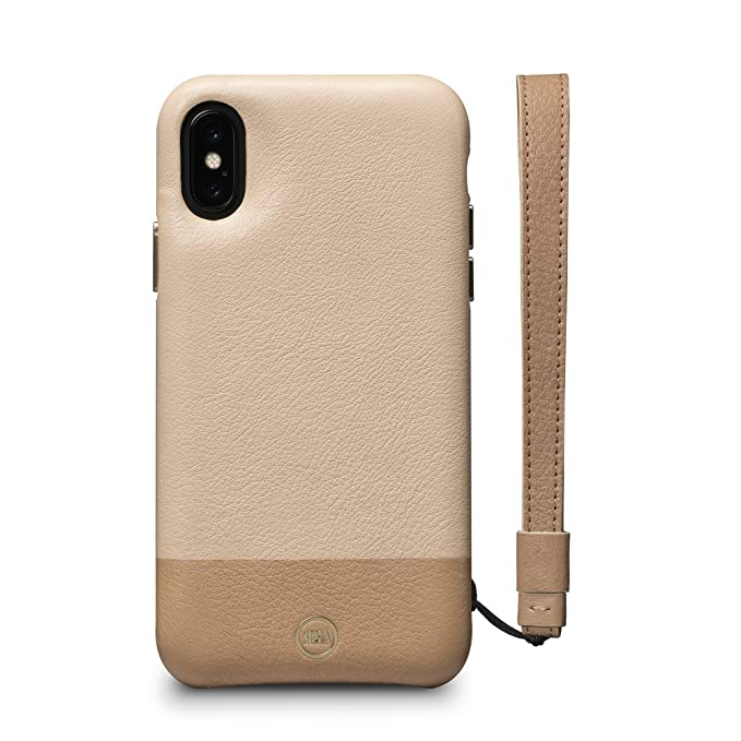 buy online 43771 e7d0b Sena Wristlet Case - Genuine Leather Lanyard Wristlet Case For Iphone X Xs  - Sand/Desert