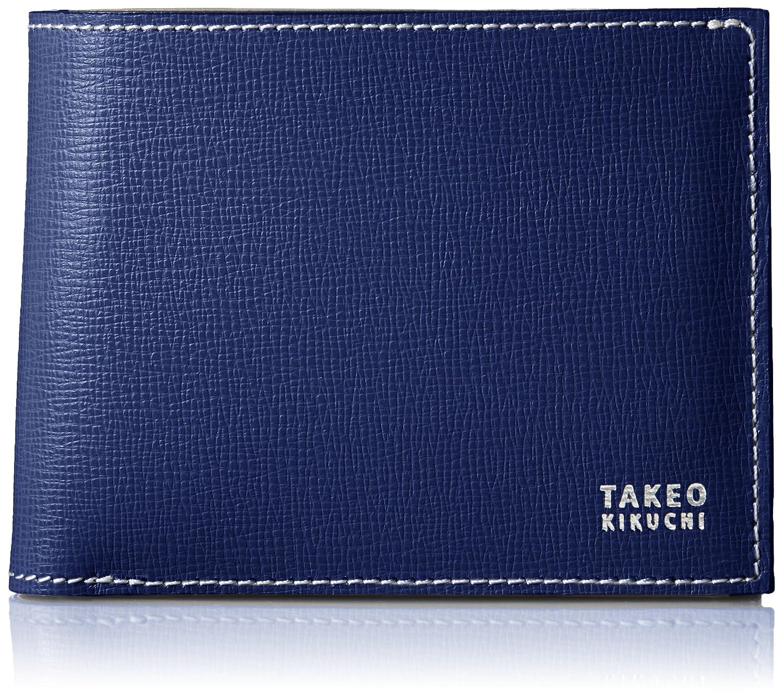 [タケオキクチ] 財布 二つ折り フランジ 749603 B01N4HQYJY ブルー